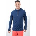 Bloq-UV Men's Hoodie (Navy) - Bloq-UV Tennis Apparel