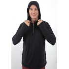 Bloq-UV Men's Hoodie (Black) - SALE: BloqUV Tennis Apparel for Men and Women