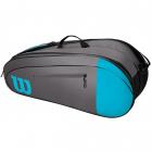 Wilson Team 6 Pack Tennis Bag (Blue/Gray) -