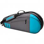 Wilson Team 3 Pack Tennis Bag (Blue/Gray) -