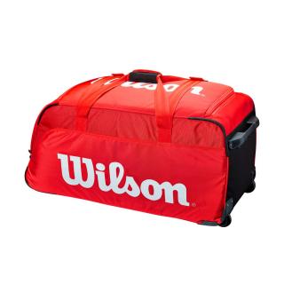 WR8012201001.Wilson Super Tour Red Tennis Travel Duffel Bag Wheels