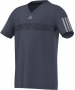 Adidas Boys Barricade Tee (Midnight Grey/ Grey) - Boy's Tops Tennis Apparel