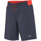 Adidas Boys Barricade Shorts (Midnight Grey/ Solar Red) - Boy's Bottoms Tennis Apparel