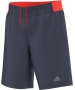 Adidas Boys Barricade Shorts (Midnight Grey/ Solar Red) - Boy's Tennis Apparel