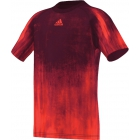 Adidas Boys Adizero Tee (Solar Red/ Black) - Boy's Tennis Apparel