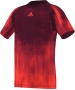 Adidas Boys Adizero Tee (Solar Red/ Black) - Boy's Tops Tennis Apparel