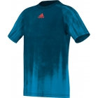 Adidas Boys Adizero Tee (Blue) - Boy's Tennis Apparel