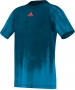 Adidas Boys Adizero Tee (Blue) - Boy's Tops Tennis Apparel