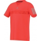 Adidas Boys Barricade V-Neck Tee (Solar Red/ Grey) - Boy's Tops Tennis Apparel