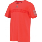 Adidas Men's Barricade Tee (Solar Red/ Grey) - Men's Adidas Apparel