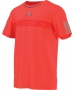 Adidas Men's Barricade Tee (Solar Red/ Grey) - Adidas Tennis Apparel