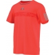 Adidas Men's Barricade Tee (Solar Red/ Grey) - Men's Tops Tennis Apparel