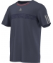 Adidas Men's Barricade Tee (Midnight Grey/ Solar Red) - New Style Tennis Apparel