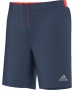 Adidas Men's Barricade Climachill Shorts (Midnight Grey/ Solar Red) - New Style Tennis Apparel