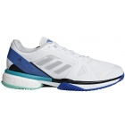 Adidas Women's aSMC Barricade Boost Tennis Shoe (White/Stone/Ray Blue) - Performance Tennis Shoes