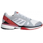 Adidas Women's aSMC Barricade Boost Tennis Shoe (Mid Grey/Core Red) - Performance Tennis Shoes