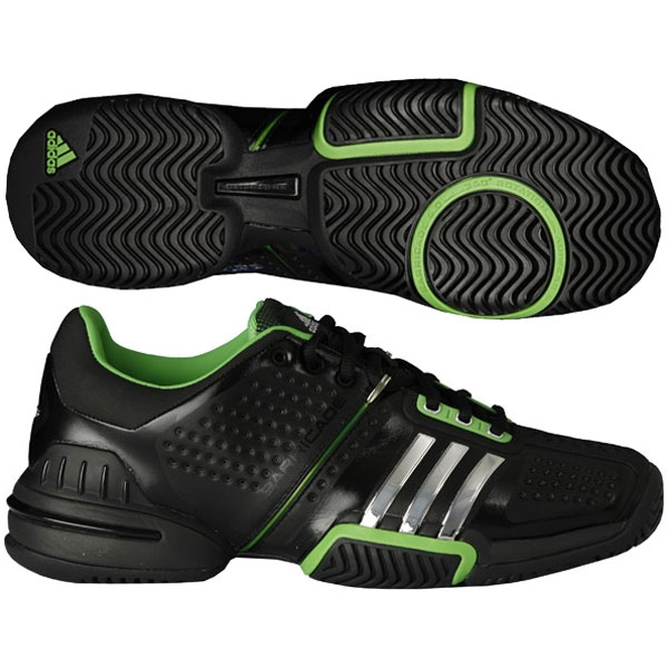 Adidas Barricade 6.0 Mens Tennis Shoes Blk/ Sil/ Grn