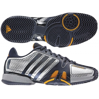 separation shoes aa619 038dc Adidas Barricade 7 Juniors Tennis Shoes (Pur Sil Org)