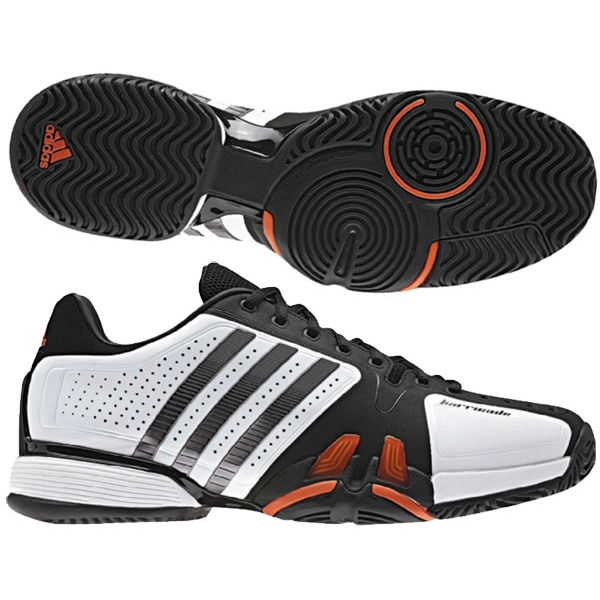 Adidas Barricade 7 Mens Tennis Shoes Wht/ Blk/ Red
