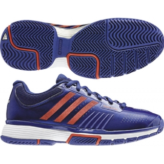 Adidas Barricade 7 Womens Tennis Shoes (Blu/ Red/ Wht)
