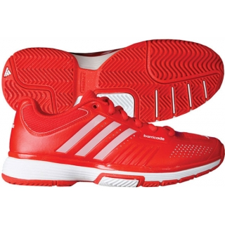 Adidas Barricade 7 Womens Tennis Shoes (Red/ Wht)