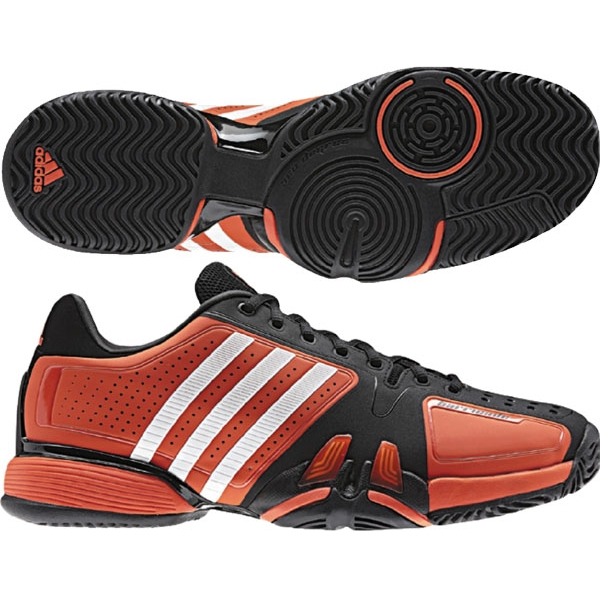 Adidas Barricade Olympic 7 Mens Tennis Shoes (Red/ Blk/ Wht)