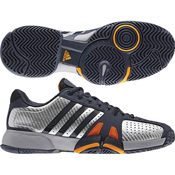 Adidas Barricade Team 2 Mens Tennis Shoes (Pur/ Sil/ Org)