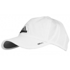Adidas Men's adiZero II Tennis Cap (Wht/ Blk/ Grey) - Tennis Accessories