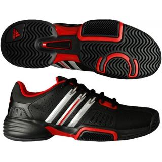 Adidas Barricade Team Mens Tennis Shoes Blk  Red  Sil - Do It Tennis 4d69d2d28