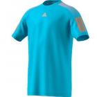 Adidas Men's Barricade Tennis Tee (Samba Blue/Glow Orange) - Discount Tennis Apparel