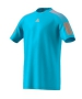 Adidas Men's Barricade Tennis Tee (Samba Blue/Glow Orange) - Men's T-Shirts & Crew Necks