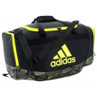 Adidas Defender II Small Duffel Bag (Black/Cab Camo/Shock Yellow) - New Tennis Bags