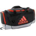 Adidas Defender II Small Duffel Bag (Black/Grey/Bold Orange) - Best Sellers