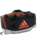 Adidas Defender II Small Duffel Bag (Black/Grey/Bold Orange) - Adidas Tennis Bags
