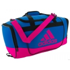 Adidas Defender II Small Duffel Bag (Shock Blue/Shock Pink) - Adidas Tennis Bags