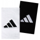 Adidas Interval Large Tennis Wristbands (Blk & Wht) - Headbands & Writsbands