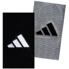 Adidas Interval Large Tennis Wristbands (Gry & Blk) - Tennis Apparel Brands