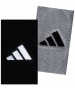 Adidas Interval Large Tennis Wristbands (Gry & Blk) - Headbands & Writsbands