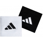 Adidas Interval Small Tennis Wristbands (Black & White) - Tennis Apparel Brands