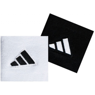 Adidas Interval Small Tennis Wristbands (Black & White)