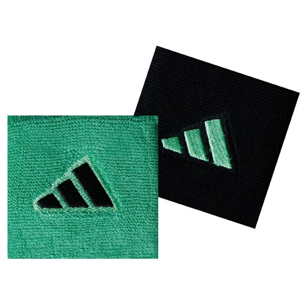 Adidas Interval Small Tennis Wristbands (Grn & Blk)