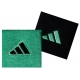 Adidas Interval Small Tennis Wristbands (Grn & Blk) - Headbands & Writsbands