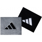 Adidas Interval Small Tennis Wristbands (Gry & Blk) - Headbands & Writsbands