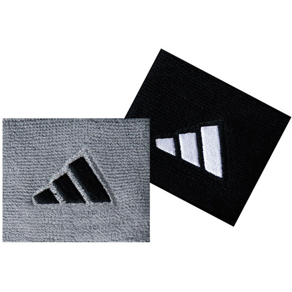 Adidas Interval Small Tennis Wristbands (Gry & Blk)