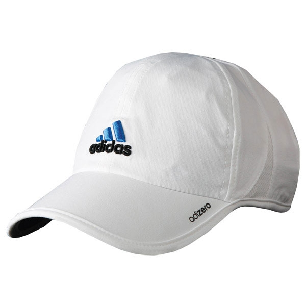 Adidas Men s adiZero Tennis Cap (Wht  Blu  Blk) - Do It Tennis e7bbdfa5fa00