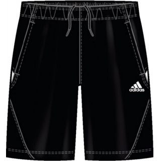 Adidas Men's Barricade Team Bermuda Short (Blk/ Wht)