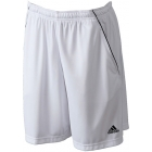 Adidas Men's Basic Bermuda Short (Wht/ Blk) - Men's Tennis Apparel