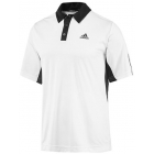 Adidas Men's Teamwear Polo (White/ Black) - Men's Tennis Apparel
