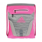 Adidas Rumble Sack Backpack (Clear Onix Space Dye/Shock Pink) - Tennis Racquet Bags
