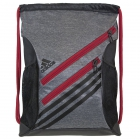 Adidas Strength Sack Backpack (Heather Grey/Scarlet) - Tennis Racquet Bags